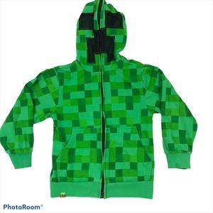Boys Jinx Brand Minecraft Creeper Sweatshirt XS